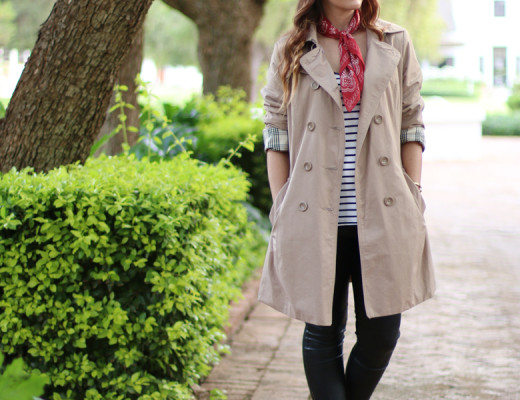autumn-trench-coat-outfit-striped-top-leather-pants-neckerchief-fashion-bloger-south-african-2
