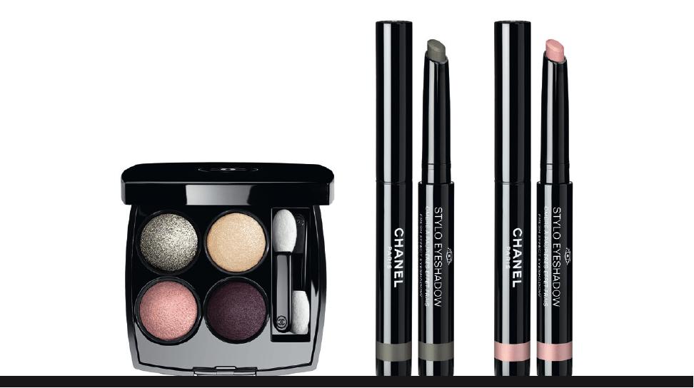 chanel eyes 2016 makeup collection vibrant colour tisse dimension vert grise rose petale
