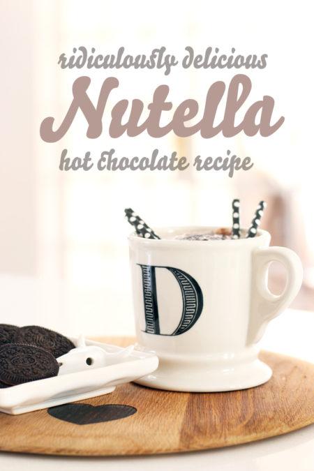 Ridiculously Delicious Nutella Hot Chocolate Recipe