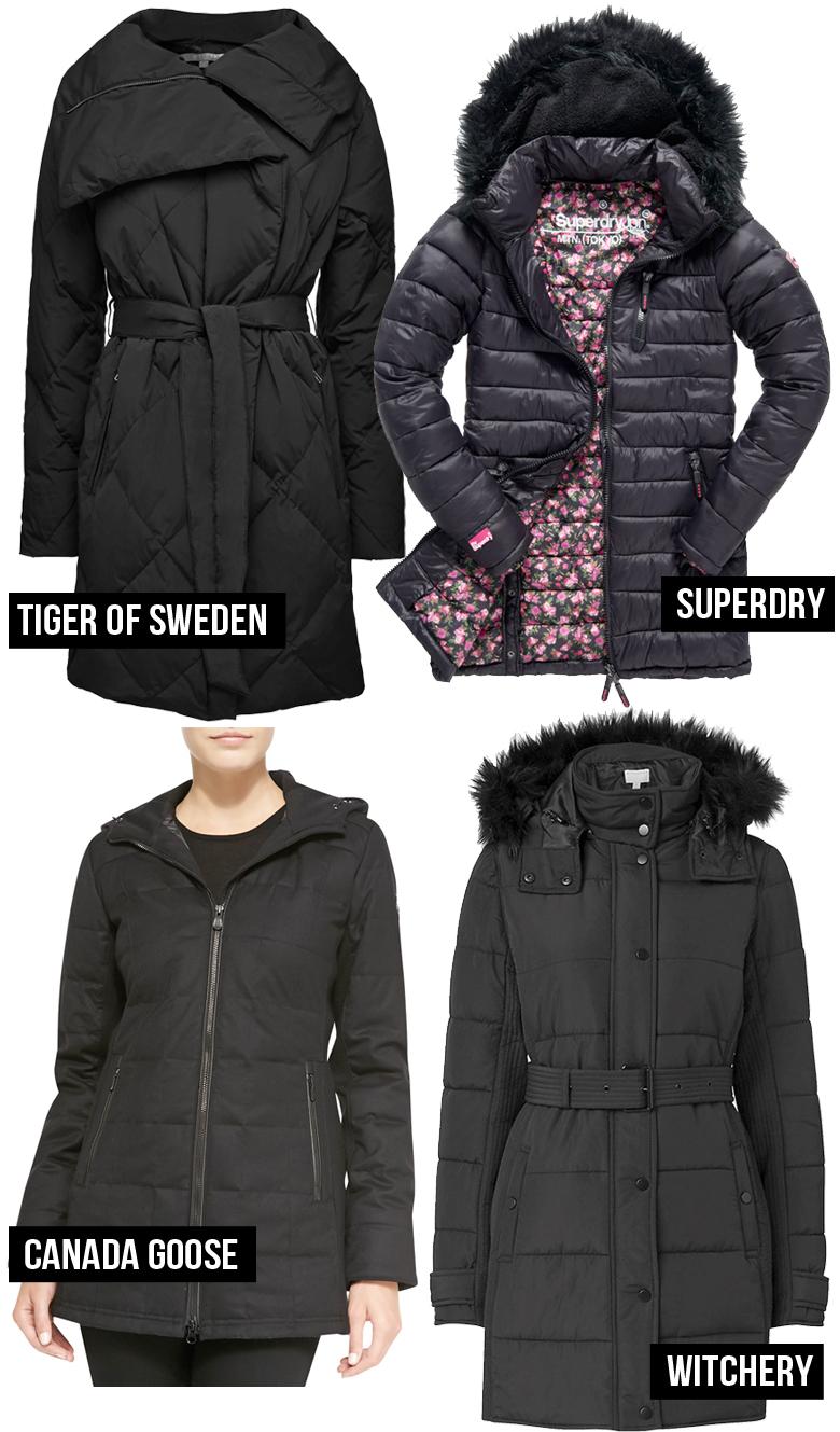 4 Stylish Puffer Coats