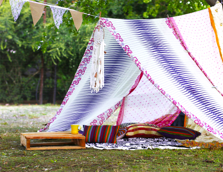 DIY: Create Your Own Dreamy Bohemian Garden Tent