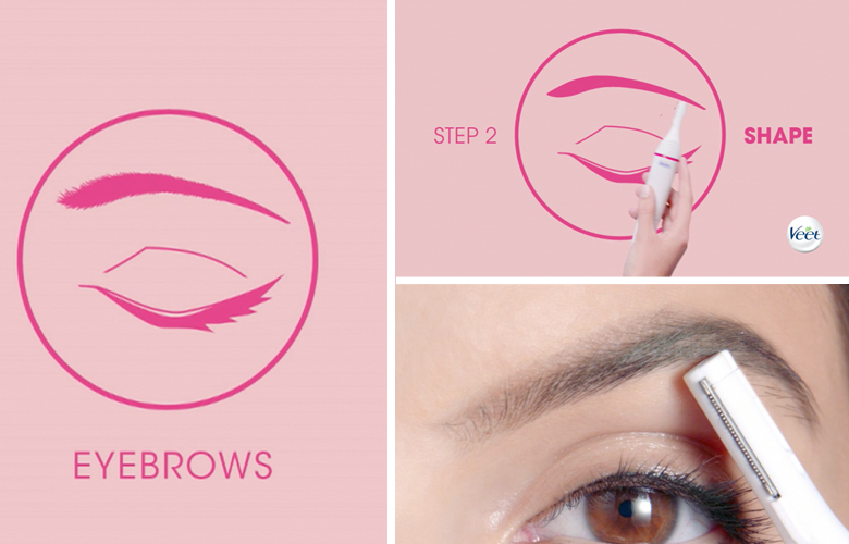 veet-sensitive-touch-electric-trimmer-how-to-contour-brows-step-by-step
