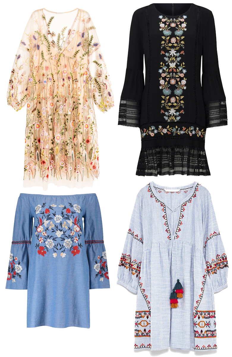 Cute Embroidered Dresses for Spring Summer 2017 from H&M, Woolworths, Forever New and Zara South Africa