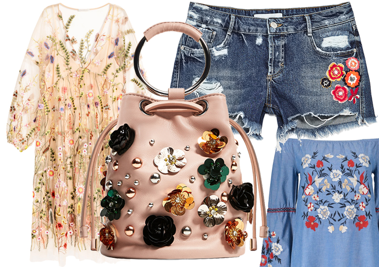 Cute Embroidered Spring 2017 Fashion Trends. Shop Dresses and Accessories