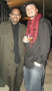 TV personality Terrence Pillay and Iain Ewok Robinson