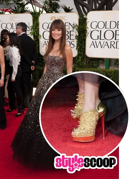 Shoe Porn – Olivia Wilde's Golden Globe Christian Louboutin Booties