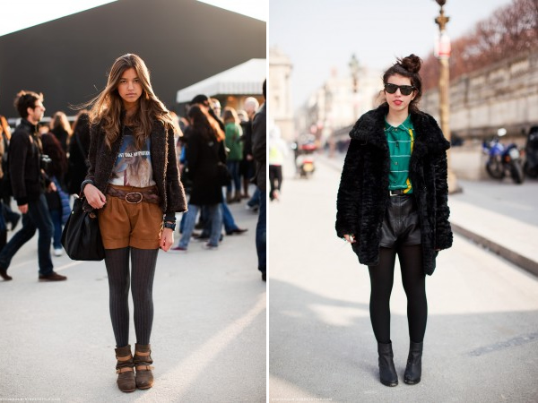 The new way to wear shorts for winter