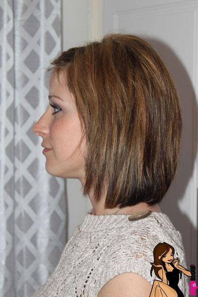 Clip extensions on short hair