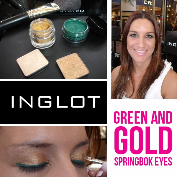 Green & Gold Springbok Inspired Looks by @InglotSA