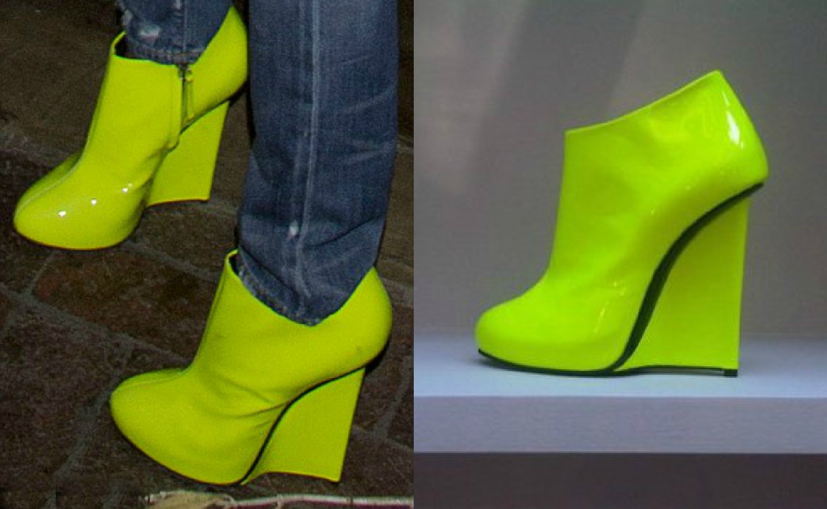 Can You Guess Which Celeb Rocked These Neon Wedges?