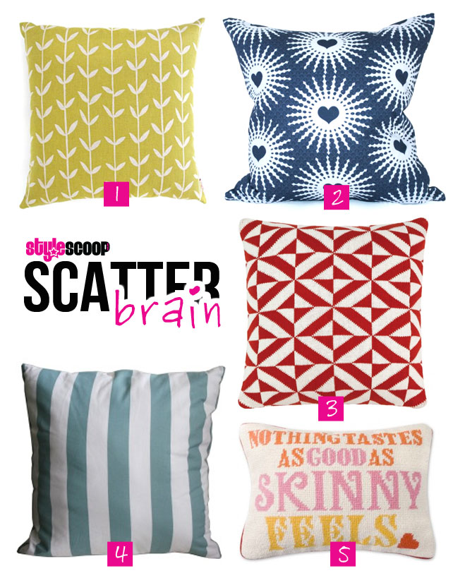 scatter cusions on the brain! #stylescoop