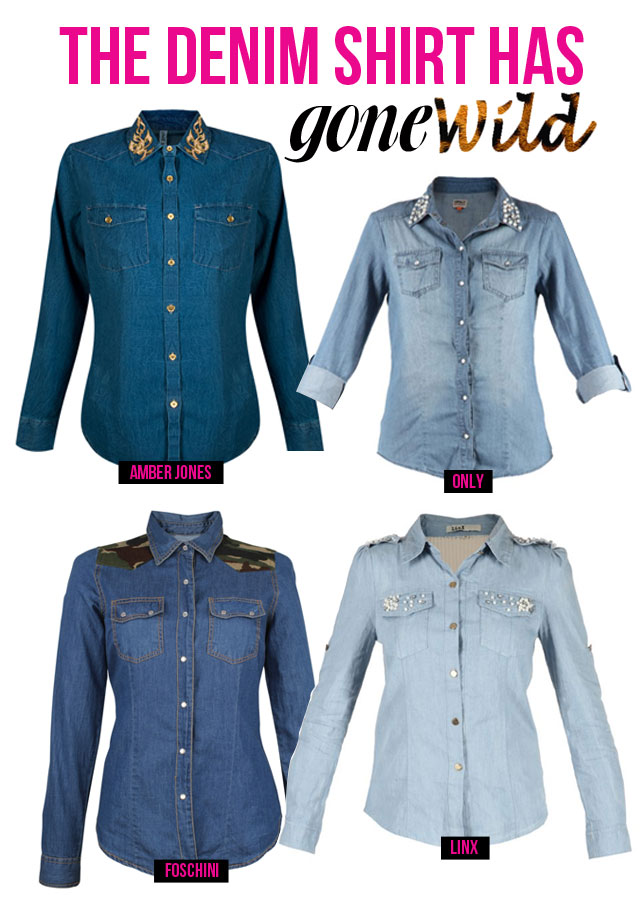 Denim Shirt Gone Wild via www.stylescooplive.com