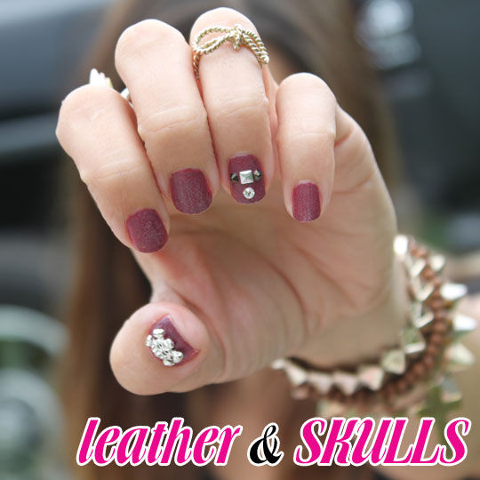Hot Trend! Leather Nails