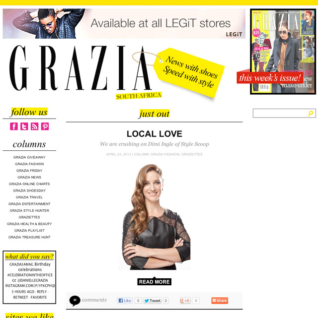 Getting personal with @GRAZIASAmag!
