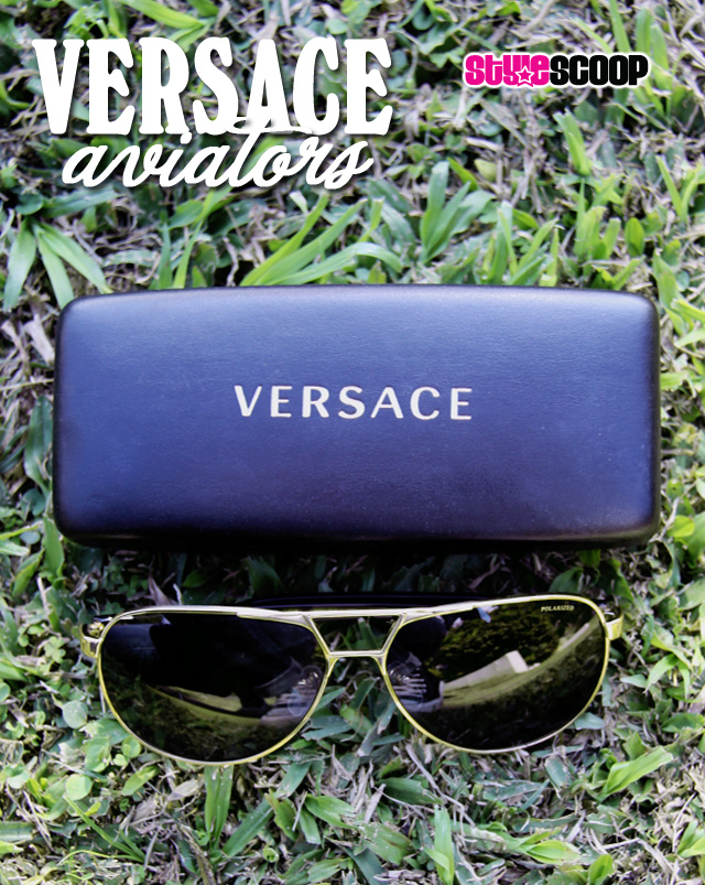 Versace Aviator Sunglasses | www.stylescoopmag.com