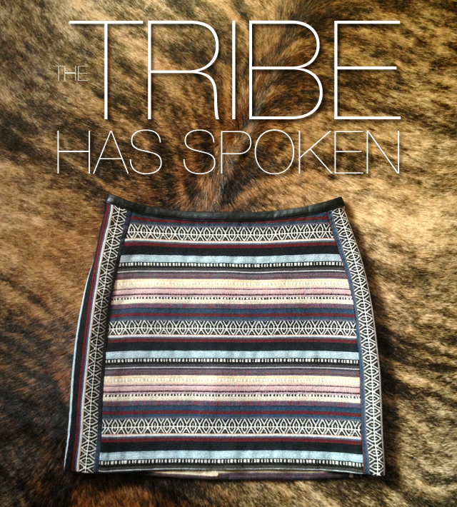 The Tribe Has Spoken! New IN, H&M Woven Skirt