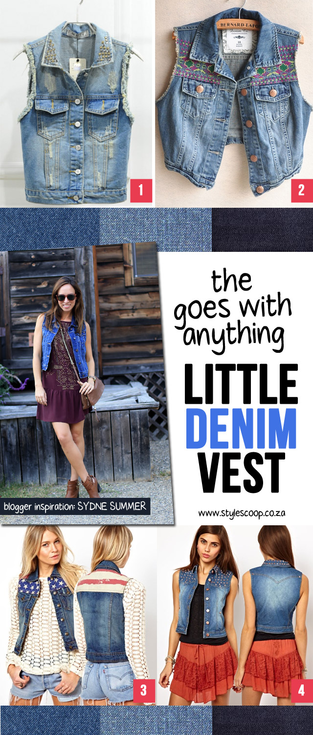 Wear With Anything! The Little Denim Vest! More on www.stylescoop.co.za