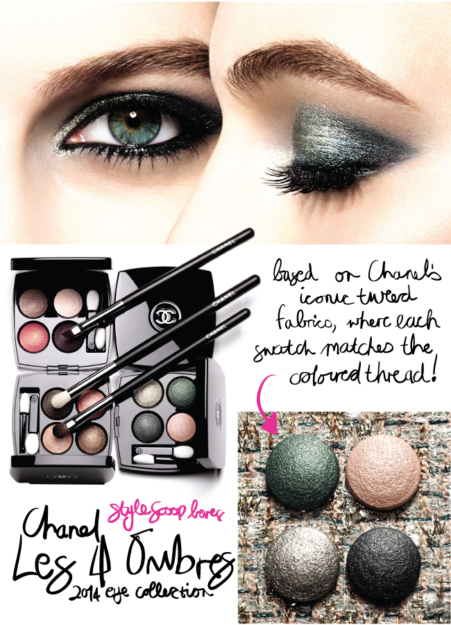 Chanel Les 4 Ombres 2014 Eye Collection – A Sneak Peak!