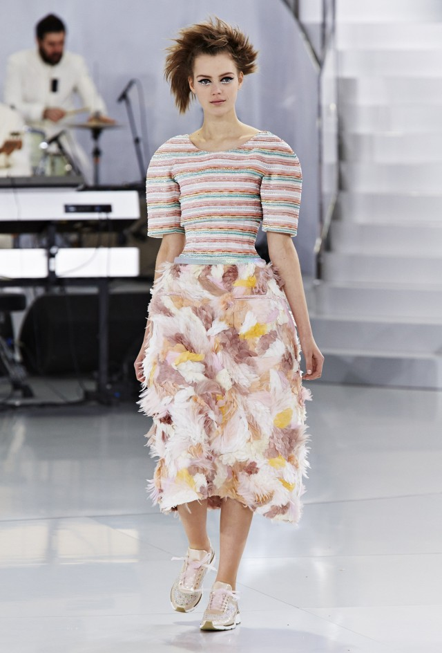 Sneakers are Haute Couture! As seen at Chanel Spring/Summer 2014