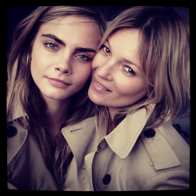 """Cara and Kate – The Two Faces of Burberry's """"New"""" Fragrance"""