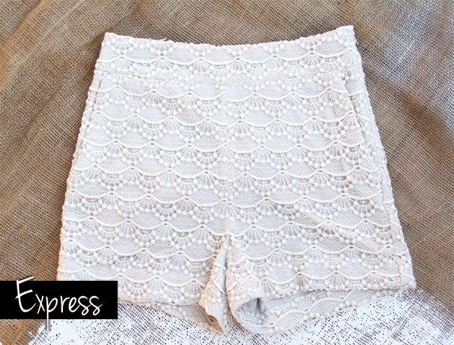EXPRESS crochet shorts & other Vacation Pieces on www.stylescoop.co.za