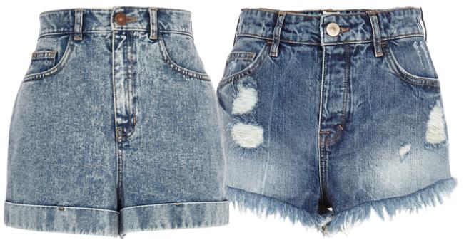 River Island Wardrobe Heros - Summer 2014 - The High Wasited Denim Shorts