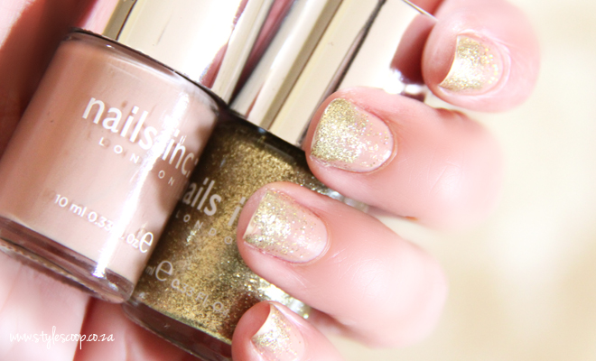 Ombre Sparkle Holiday Nails