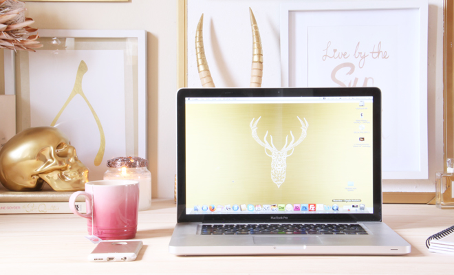 Glam & Gold Workspace
