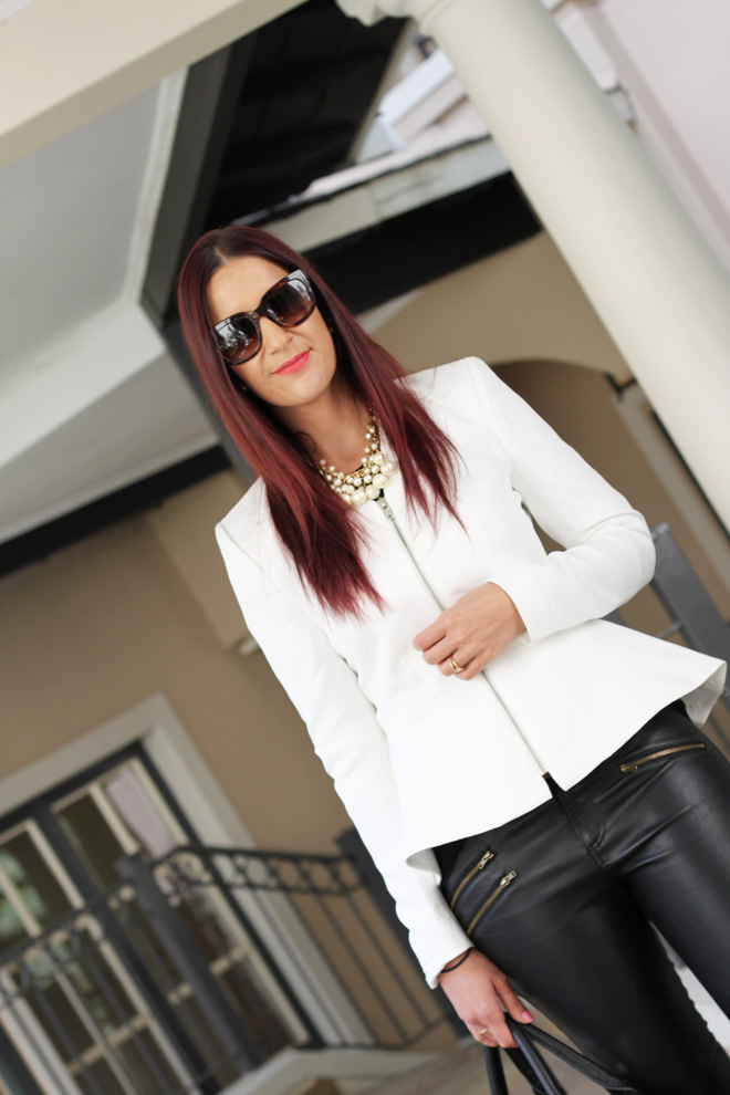 Black & White Peplum OOTD on StyleScoop
