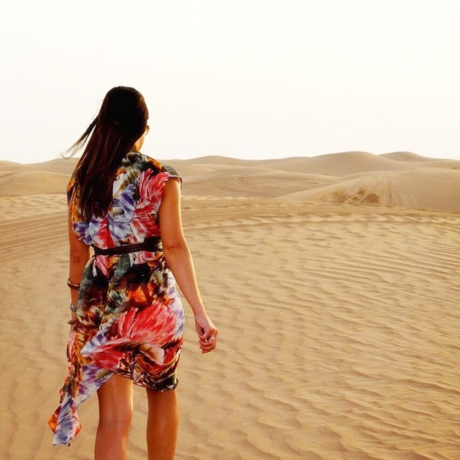 Exploring the desert in Dubai