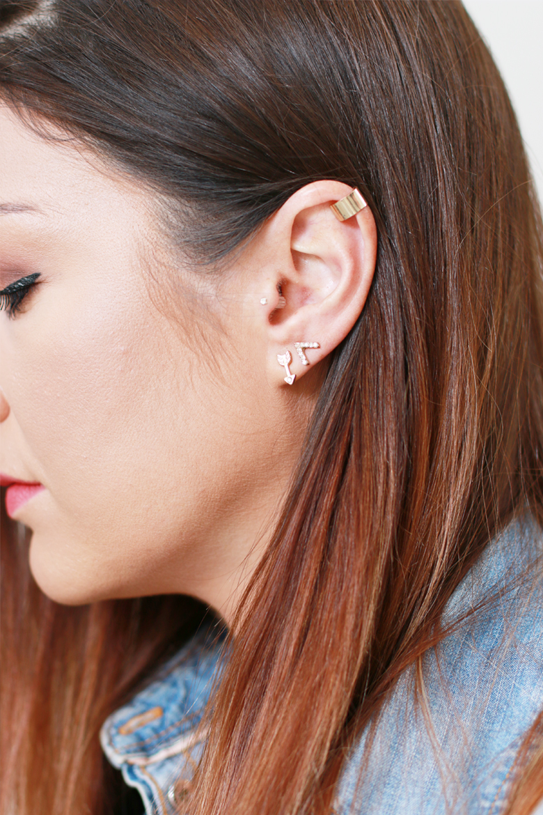 how-to-wear-multiple-studs-earrings-fashion-blogger-south-africa-stylescoop-ear-candy-arrow-studs