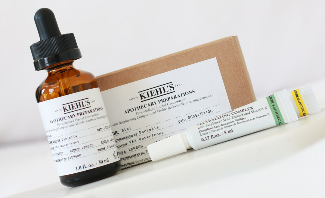 Personalised SkinCare – Meet Kiehl's Apothecary Preparations