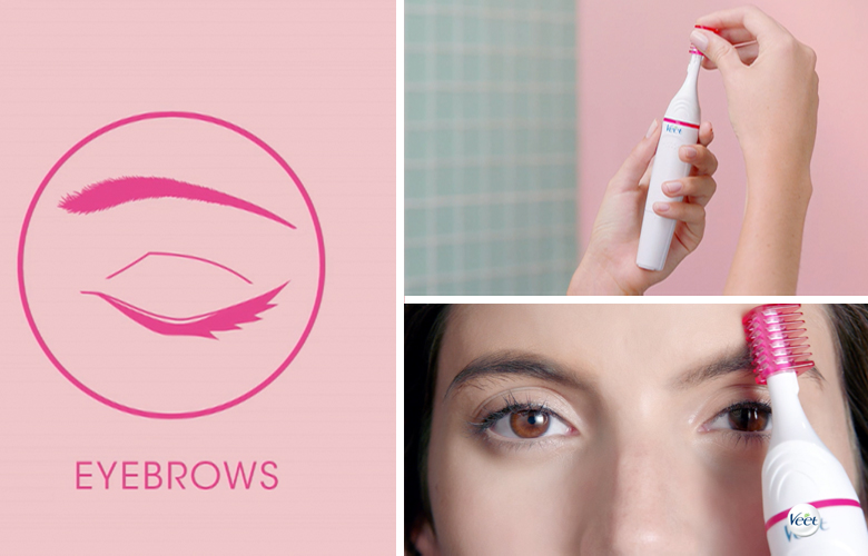 veet-sensitive-touch-electric-trimmer-how-to-shape-brows-step-by-step