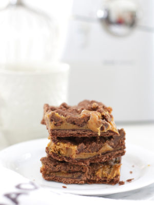 Chocolate Caramel Crumble Squares